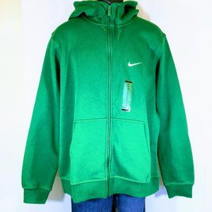 NWT - Nike Club Full Zip Hoodie in Green